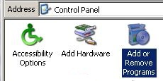 Control Panel/Add or Remove Programs