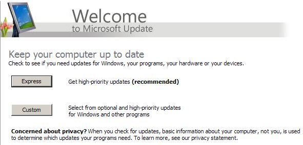 Microsoft Update for Windows